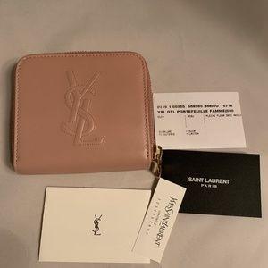 Belle de Jour New Ysl Leather Zip Around Wallet